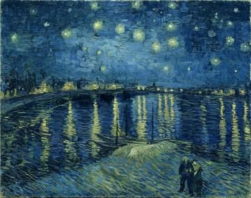 Картина «Лунная ночь над Роной» Винсент Ван Гог