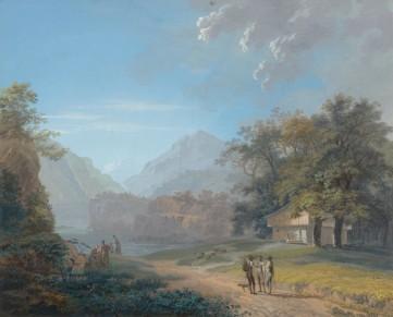 Картина «Эрмитаж Винкельдрид около озера Люцерн» Волмар Йоганн