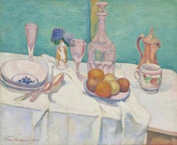 Картина «Натюрморт с графином и фруктами» Эмиль Бернар
