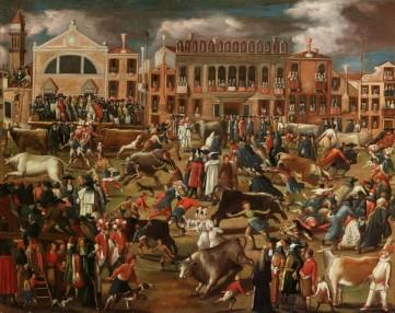 Картина «Охота на быков в Кампо Сан Поло» Неизвестный художник