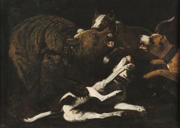 Картина  «Охота на медведя» Неизвестный художник