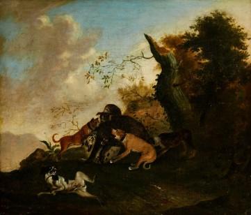Картина «Охота на кабанов» Франц Снайдерс
