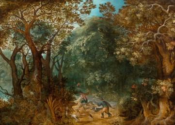 Картина «Охота на кабана» Абрахам Говартс