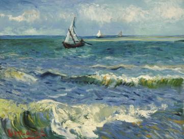 Картина «Вид на море в Сан - Мари» Винсент Ван Гог