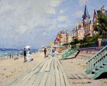 Картина «Набережная в Трувилле» Клод Моне