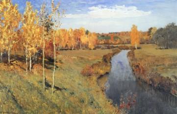Картина «Золотая осень» Исаак Левитан