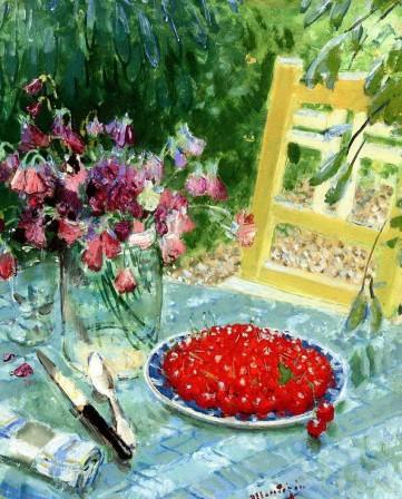 Монтезин Пьер Эжен «Натюрморт с вишнями»