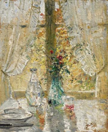 Картина  «Натюрморт у окна» Монтезин Пьер Эжен