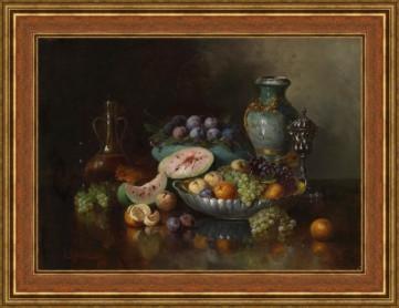 Картина «Натюрморт с фруктами и великолепных декоративных изделий» Руфер-Редвитц Антон