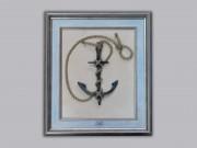 Сувенирный якорь кованый вручную в багете